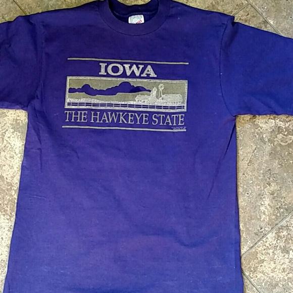 Jerzees Tops - Iowa Hawkeye State Tshirt